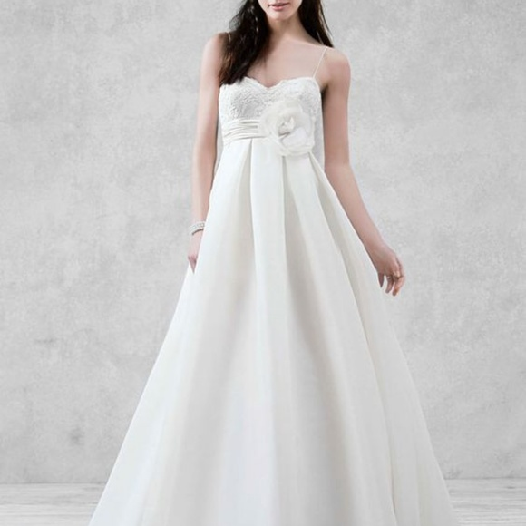 951f5677fee8 galina Dresses | Wedding Spaghetti Strap Empire Waist Gown | Poshmark